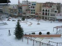 Κομοτηνή Χιονισμένη Πλατεία